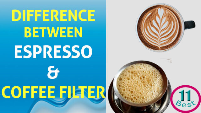 What is the Difference Between Coffee Espresso and Coffee Filter?